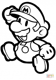 paper mario coloring free printable coloring pages
