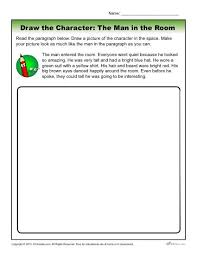 the man in the room character descriptions worksheet