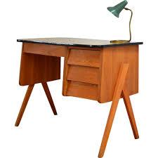 petit bureau vintage petit bureau vintage en teck avec pieds compas 1950 design market