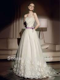 Wedding Dress With Train Aliexpress Com Buy Free Shipping Strapless Tullefkower Purple
