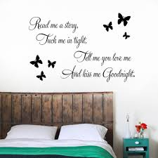 tell you love kiss goodnight butterflies diy removable tell you love kiss goodnight butterflies diy removable art vinyl quote wall sticker decal mural home decoration quotes decals