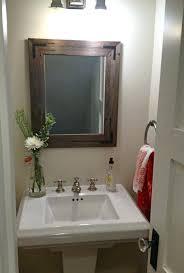 Wooden Bathroom Mirrors Idea Rustic Bathroom Mirrors For Best Oval Bathroom Mirror Ideas