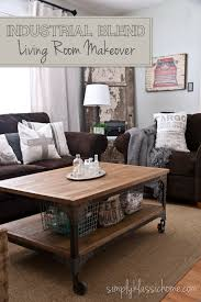 grey walls brown sofa shocking industrial blend living room makeover reveal yellow bliss