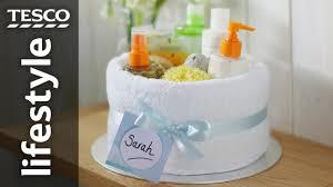 towel cakes how to make a towel cake tesco living