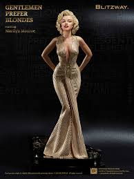 blitzway marilyn monroe gentlemen prefer blondes 18 inch statue movies