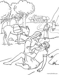 surprising good samaritan coloring pages kids