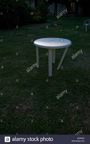 Garden Table Plastic An Amusing Image Of A White Plastic Garden Table With One Leg