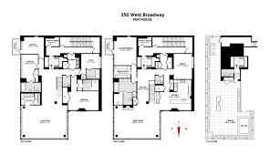 Penthouse Floor Plan by The Penthouse At 350 West Broadway Majestic Penthouses International