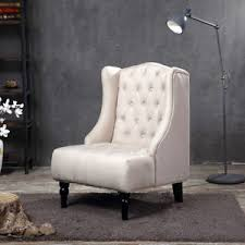 Nailhead Accent Chair Wingback Accent Chair Tall High Back Living Room Tufted Nailhead