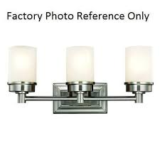 hampton bay transitional 3 light brushed nickel vanity light a5652