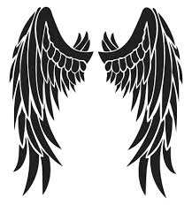 wings design free black tribal feather wing