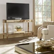 console table tv stand camille glam mirrored tv stand console table with drawer by inspire