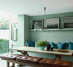 Aqua Dining Room Aqua Dining Room With Modern Chandelier The Interior Collective