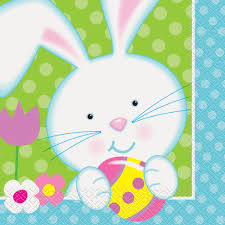 easter napkins easter bunny paper napkins easter party supplies