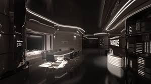 cyberpunk future futuristic interior taurus iv meeting room