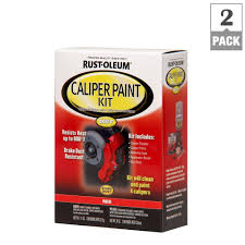rust oleum automotive red caliper spray paint kit 2 pack 257169