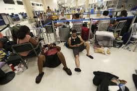 puerto rico airport filled with stranded passengers after maria