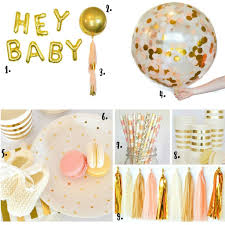 peach and gold baby shower decorations and inspiration