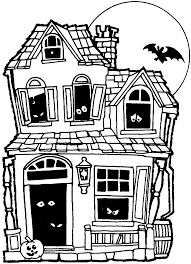 halloween house clipart black and white clipartsgram com