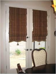 double french doors with blinds french door roman shades home