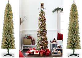 pencil christmas tree 7ft pre lit pencil christmas tree only 49 99 free