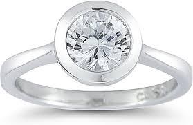 set diamond solitaire bezel set diamond engagement ring ur8958