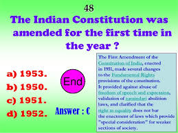 The Constitution Made No Mention Of A Presidential Cabinet Indian Constitution And Politics Quiz