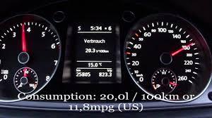 2012 vw passat 1 4 tsi fuel consumption test youtube