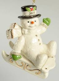 lenox annual snowman ornament 2015 snowy sleigh ride ebay