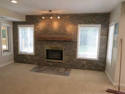 Home Interior Accents Decorations Grey Exposed Brick Accent Wall Combine With
