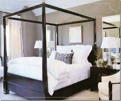 Black Canopy Bed Frame Awesome Best 25 Wood Canopy Bed Ideas On Pinterest Frame In Wooden