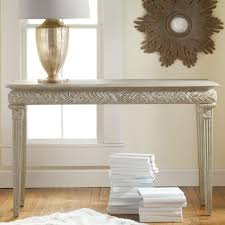 Painted Console Table White Modern Console Table