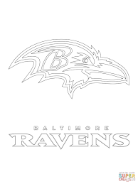 baltimore ravens logo coloring page free printable coloring pages