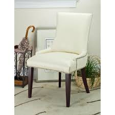 Cream Leather Club Chair Safavieh Alexia Fabric Dining Chair Walnut Legs Hayneedle