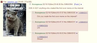 4chan Meme - ama with man who created first ever meme 4chan