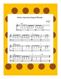 thanksgiving the american song of thanks sheet