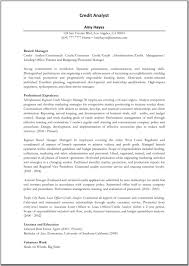 Resume Of Customer Service Manager Credit Analyst Resumes Resume For Your Job Application