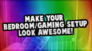 how to make your bedroom gaming setup look awesome one simple