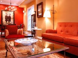 living room sofa and glass table lamp then stood in the living