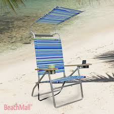 inspirational beach chair with canopy and cup holder interior