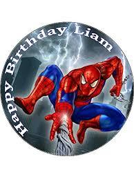 7 5 Spiderman Superheroes Edible Icing Birthday Cake Topper