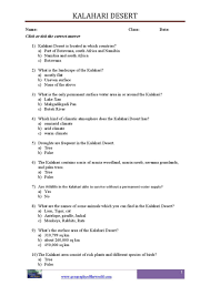 Worksheets For Geography World Deserts Printable Worksheets For Students Pdf Files