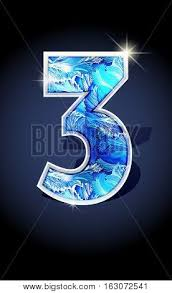 blue winter number three on vector photo bigstock