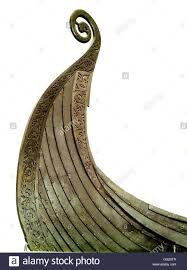 detail of the oseberg viking ship end of 8th century early 10th
