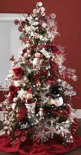 Pics Of Decorated Christmas Trees Snowman Christmas Tree Christmas Pinterest Christmas Tree