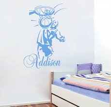 personalized name wall decals basketball sport decal boy room personalized name wall decals basketball sport decal boy room nursery decor in wall stickers from home garden on aliexpress com alibaba group