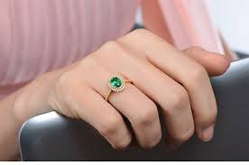 2 carat halo engagement ring vintage 2 carat emerald and halo engagement ring in