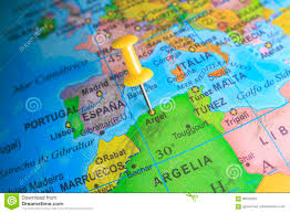 Africa On A Map by Argel Pinned On A Map Of Africa Stock Photo Image 95535333