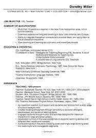 Early Childhood Education Resume Template Esl Teacher Resume Sample Best Resume Collection