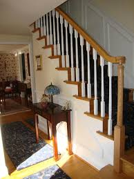 Stairway Banister Wood Stairs And Rails And Iron Balusters New Handrail Cherry Hill Nj